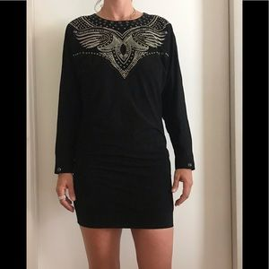 Isabel Marant black suede dress with Studs 38